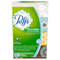 Mouchoirs blancs 2 épaisseurs avec lotion Puffs