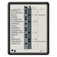 Quartet Porcelain Magnetic 18-Name In/Out Boards, Grey/Black, 11