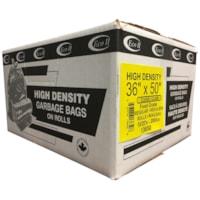 Sacs à ordures givrés de densité régulière 36 po x 50 po Eco II Manufacturing Inc.
