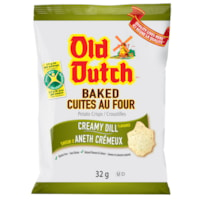 Old Dutch Potato Chips, Baked, Creamy Dill, 32 g, 36/CT