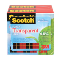 Scotch Transparent Tape Refill with Plant-Based Adhesive