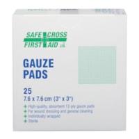 SAFECROSS Sterile Gauze Pads, 3