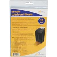 Feuilles de lubrification pour les déchiqueteuses Royal Sovereign, blanc, emb. de 10