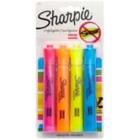 Sharpie Accent Tank-Style Highlighter, Assorted Colours, Chisel Tip, 4/PK