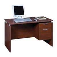 Star Quality Mira Single-Pedestal Cayene Cherry Desk