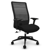 Global Loover High-Back Office Tilter Chair, Echo Black, Terrace Fabric