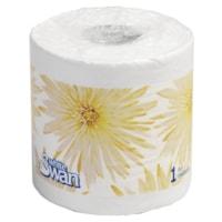 White Swan 1-Ply Standard Bathroom Tissue, White, 1,000 Sheets/Roll, 48/CT