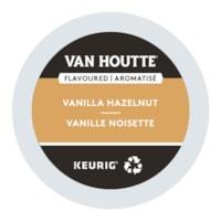 Van Houtte Single-Serve Coffee K-Cup Pods, Vanilla Hazelnut Flavoured, 24/BX