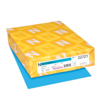Neenah Astrobrights Cover Paper, Lunar Blue, Letter-Size, FSC And Green Seal Certified, 65 lb., Ream