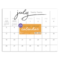 TF Publishing 12-Month Academic Monthly Desk Calendar, 17