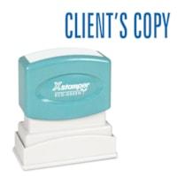 Timbre générique Xstamper, CLIENT'S COPY, bleu, 1/2 po x 1 5/8 po