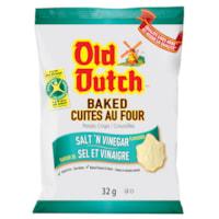 Old Dutch Potato Chips, Baked, Salt 'N Vinegar, 32 g, 36/CT
