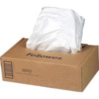 Sacs pour déchiqueteuses Powershred Fellowes séries 90S, 99Ci et B, transparent, boîte de 100
