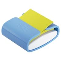 Distributeur bleu pervenche de feuillets éclair 3 po x 3 po Post-it de couleur jaune canari