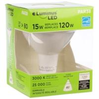 Ampoule à DEL LuminusLED, Par38, 15W, intensité réglable, blanc brillant, emb. de 1