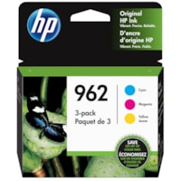 HP 962 Cyan/Magenta/Yellow Original Standard Yield Ink Cartridges, 3/PK(3YP00AN)