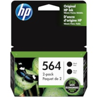 HP 564 Black Standard Yield Ink Cartridges (C2P51FN), 2/PK