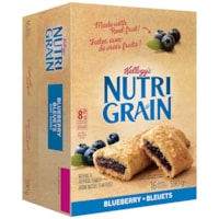 Kellogg's Nutri-Grain Cereal Bars, Blueberry, 37 g, 16/BX