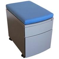 Coussin d'assise HDL, tissu bleu, 15 1/4 po L x 22 1/2 po P x 2 po H