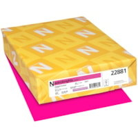 Papier couverture Astrobrights Neenah, couleur fuchsia Fireball Fuchsia, format lettre, certifié FSC et Green Seal, 65 lb, rame