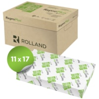 Rolland ReproPlus Recycled Copy Paper, White, Tabloid Size, Ream