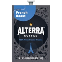 Flavia Alterra Single-Serve Coffee Freshpacks, French Roast, Dark Roast, 100/CT