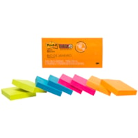Post-it Super Sticky Notes in Rio de Janeiro Colour Collection, Unlined, 1 7/8