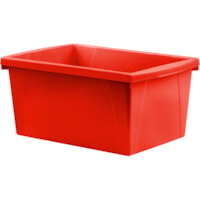 Storex Medium Classroom Storage Bin, Red, 21 L