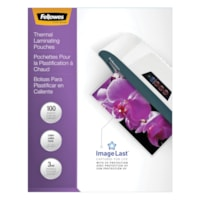 Fellowes Letter-Size Thermal Laminating Pouches, 3 mil, Pack of 100