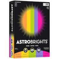 Papier Astrobrights Neenah, couleurs joyeuses, format lettre, certifié FSC et Green Seal, 24 lb, rame