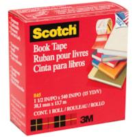 Scotch Book Repair Permanent Tape, Transparent, 1 1/2