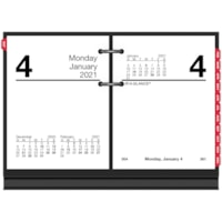 At-A-Glance 12-Month Loose-Leaf Daily Desk Calendar Refill, 3 3/4
