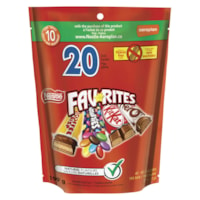 Nestlé Favorites Fun-Size Chocolate Bars, Package of 20