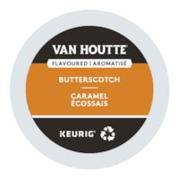 Van Houtte Single-Serve Coffee K-Cup Pods, Butterscotch Flavoured, 24/BX