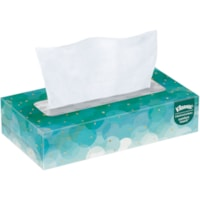 Kleenex 2-Ply Flat Box Facial Tissue, White, 100 Sheets/BX