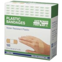 SAFECROSS Water-Resistant Plastic Bandages, 1