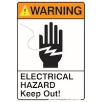 ELECTR HAZARD WARN STICK 7X10