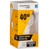 Luminus LED Lightbulb, A19, 6W, Dimmable, Warm White