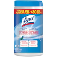 Lysol Disinfecting Wipes, Spring Waterfall Scent, 110/PK