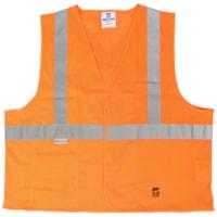 Gilet de sécurité en tissu maillé orange de taille 4X/5X Open Road