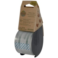 Earth Hugger Bandit Shipping Tape with Grey Dispenser, Clear