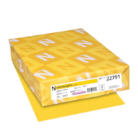 Neenah Astrobrights Cover Paper, Sunburst Yellow, Letter-Size, FSC And Green Seal Certified, 65 lb., Ream