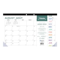 Blueline 16-Month Academic Monthly Desk Pad Calendar, Pure Design, 17 3/4