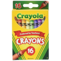 Crayons de cire Crayola, couleurs variées, emb. de 16