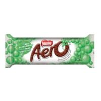 Barres de chocolat Aero Menthe Nestlé, 41 g, boîte de 24