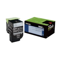 Lexmark 701C Black Standard Yield Return Program Toner Cartridge (70C10K0)