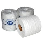 Dura Plus 2-Ply Diamond Standard Bathroom Tissue, White, 500 Sheets/RL, 48/CT