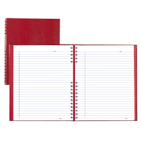 Blueline NotePro Coiled Notebook, 200 Pages, Red, 10 3/4