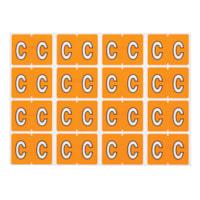 Pendaflex Colour-Coded Alphabetic Labels, Letter C, Light Orange, 240 Labels/PK