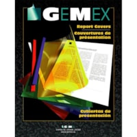 Gemex Standard Weight Vinyl Report Covers, Clear, Letter Size, 25/BX